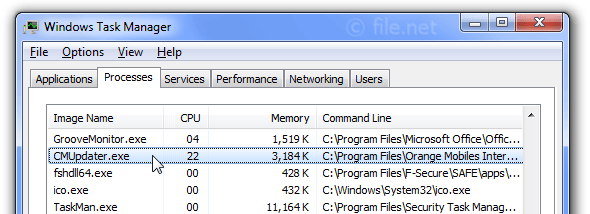 CMUpdater.exe Windows process - What is it?