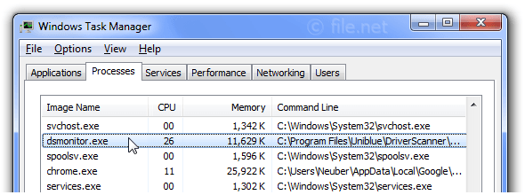 Windows Task Manager with dsmonitor