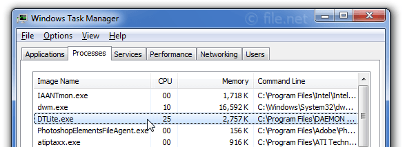 Windows Task Manager with DTLite