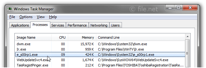 Windows Task Manager with e_s00rp1
