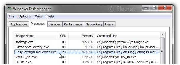 EasySettingsCmdServer exe Windows process - What is it?