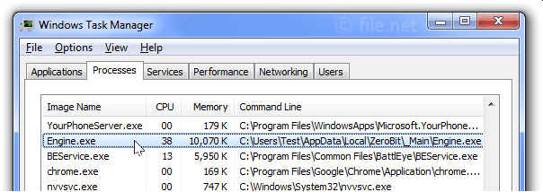engine.exe Windows process - What is it?