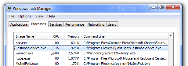 FastBootService exe Windows process - What is it?