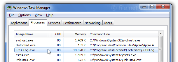FCDBLog exe Windows process - What is it?