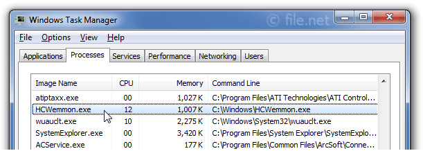 Windows Task Manager with HCWemmon