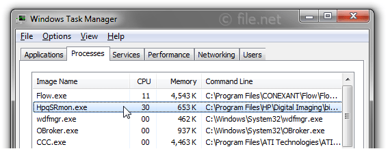 Windows Task Manager with HpqSRmon