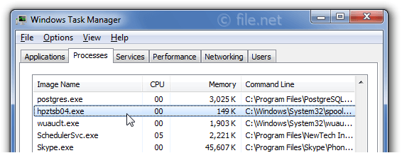 Windows Task Manager with hpztsb04