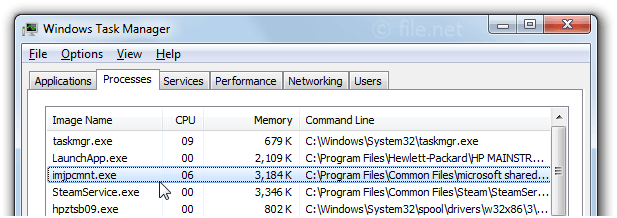 Windows Task Manager with imjpcmnt