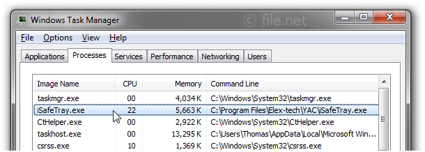 iSafeTray.exe Windows process - What is it?