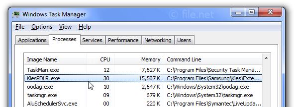 Windows Task Manager with KiesPDLR