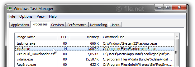 Windows Task Manager with ktp3