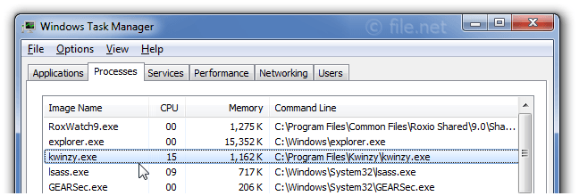 Windows Task Manager with kwinzy