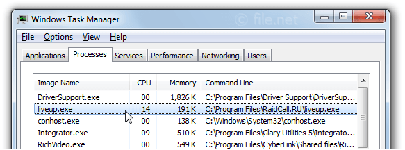 liveup exe Windows process - What is it?