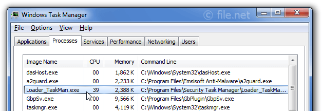 Loader_TaskMan.exe Windows process - What is it?