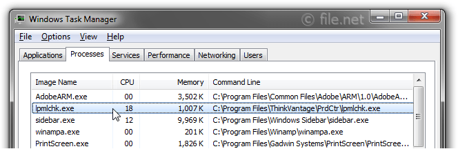 Windows Task Manager with lpmlchk