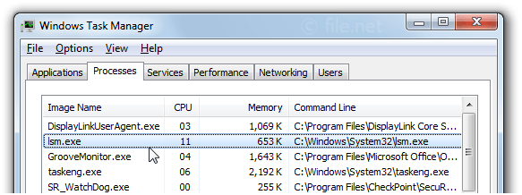 Windows Task Manager with lsm
