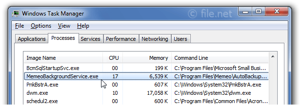 MemeoBackgroundService exe Windows process - What is it?