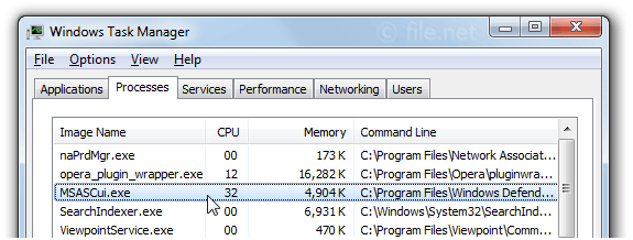 Windows Task Manager with MSASCui