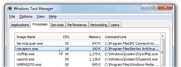internet file navapsvc exe