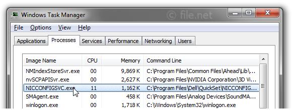 Is NICCONFIGSVC.exe safe? How to remove a NICCONFIGSVC error?