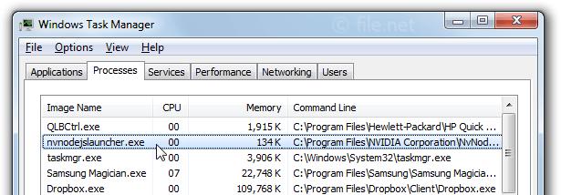 nvnodejslauncher exe Windows process - What is it?