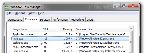 Windows Task Manager with nwiz