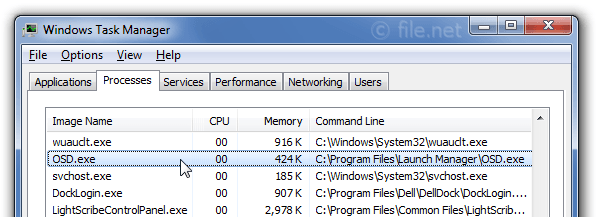 Windows Task Manager with OSD