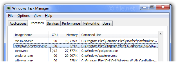 pcmpiwin32service.exe Windows process - What is it?