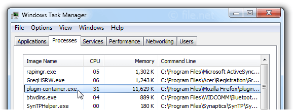 plugin-container.exe Windows process - What is it?