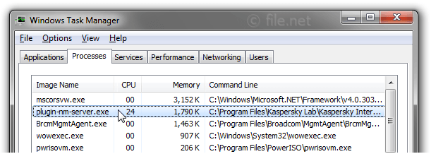 Windows Task Manager With Plugin Nm Server