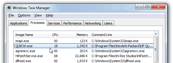 Windows Task Manager with QlbCtrl
