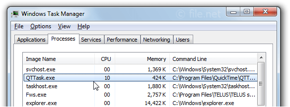 Windows Task Manager with qttask