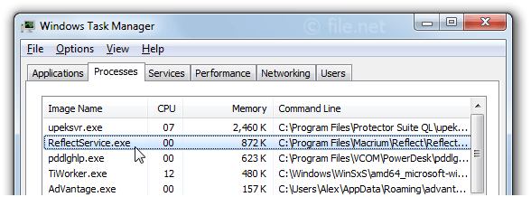Windows Task Manager with ReflectService