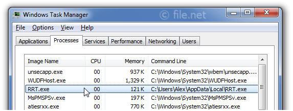 Windows Task Manager with RRT