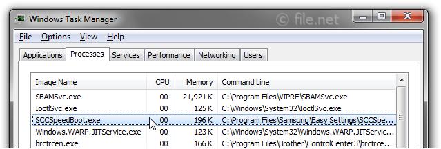 SCCSpeedBoot exe Windows process - What is it?