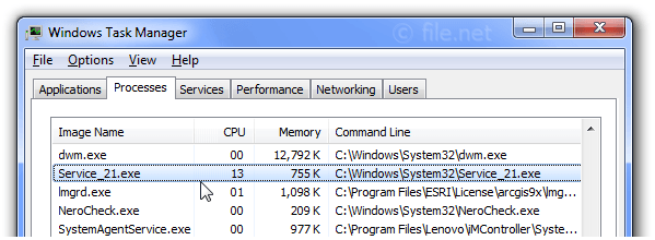 Service_21.exe Windows process - What is it?