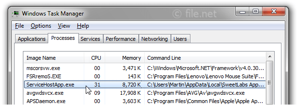 ServiceHostApp.exe Windows process - What is it?