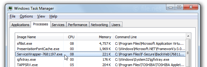 Windows Task Manager with ServiceWrapper-7681197