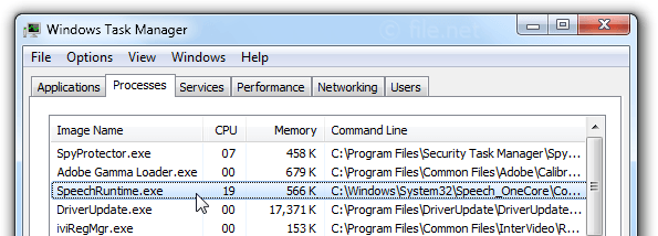 SpeechRuntime exe Windows process - What is it?