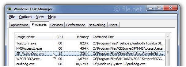 SR_WatchDog exe Windows process - What is it?