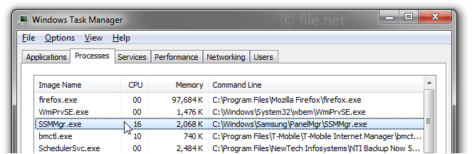 Windows Task Manager with SSMMgr