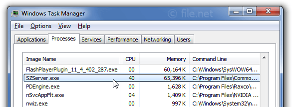 Windows Task Manager with SZServer
