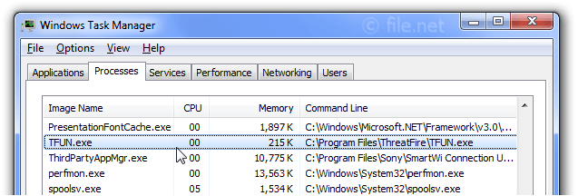 Windows Task Manager with TFUN
