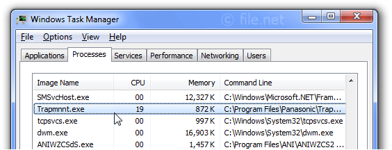 Windows Task Manager with Trapmnnt