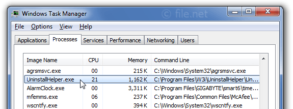 UninstallHelper exe Windows process - What is it?