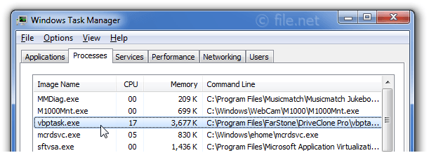 Windows Task Manager with VBPTask