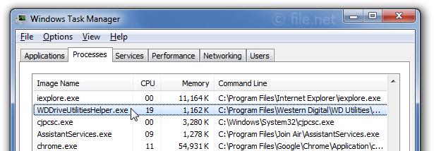 WDDriveUtilitiesHelper exe Windows process - What is it?
