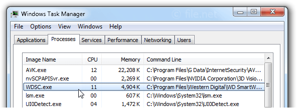 Windows Task Manager with WDSC