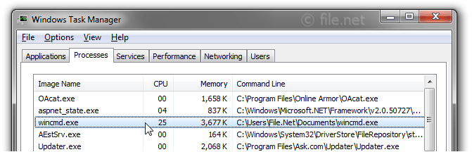 Windows Task Manager with wincmd