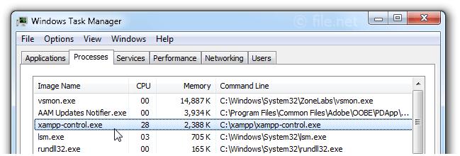 xampp-control exe Windows process - What is it?